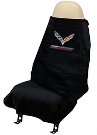 Corvette C7 Grand Sport Seat Towel Protection by Seat Armour - Black