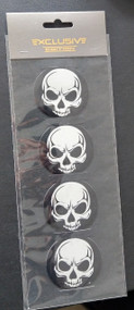 Chrome Skull Center Caps set of 4