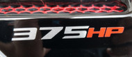375HP Vinyl Decal - Silver & Red