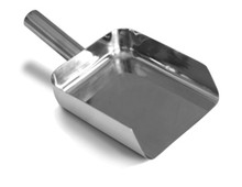 Scoop - Stainless Steel 316 Pharma Scoop - 50 oz. Square Bottom