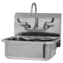 Sink-Bowl Wall Mount Stainless-Handle Operated-Gooseneck Faucet