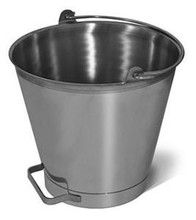 Bucket - 16 Quart Stainless Steel Pail with side Handle