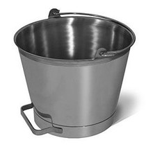 Bucket - 13 Quart Stainless Steel Pail with side Handle