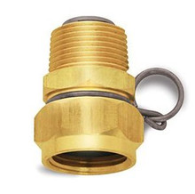 "Nozzle - Brass Swivel Hose Adapter w/ 3/4"" Female GHT & 3/4"" Male GHT"