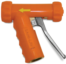 Brass Industrial Mid-Size Spray Nozzle Orange