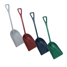 "Metal Detectable Large One-Piece Shovel with 14"" Blade"