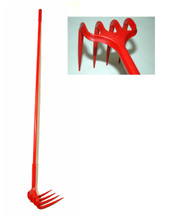 *Rake - Grape Rake w/ 5 ft.Handle - Unirake