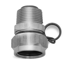 "Nozzle - Stainless Steel Swivel Hose Adapter 3/4"" GHT"