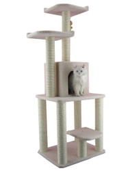 Faux Fleece Cat Tree - 62 Inches