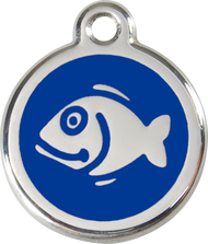 Red Dingo Stainless Steel and Enamel Pet ID Tag - Fish
