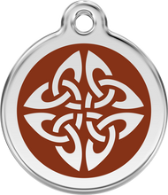 Red Dingo Stainless Steel and Enamel Pet ID Tag - Tribal Arrows