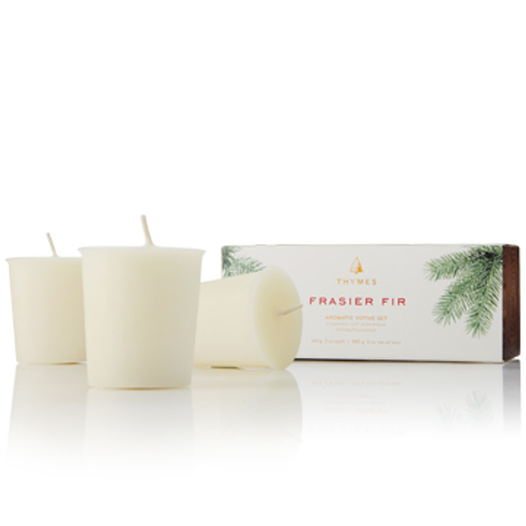 Mountain fresh and glowing, this scented votive candle set enhances any décor or makes an elegant hostess gift. Fills your home with crisp, just-cut forest fragrance that evokes seasonal celebrations, holidays and the winter solstice. Sized perfectly to refill our Frasier Fir Votive Candle glass.
