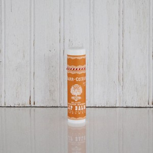 Barr-co lip balm long-lasting with SPF and a pop of orange and vanilla fragrance and flavor