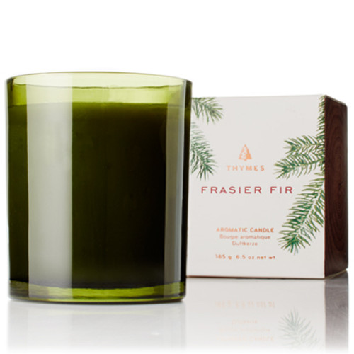 Frasier Fir Candle, Green Glass