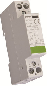 CONTACTOR, 2 POLE, 20A , DIN MOUNTING
