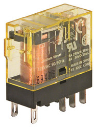 RELAY SLIM LINE, DPDT, 8A, WITH INDICATOR