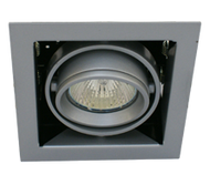 Downlight, European design gyro ring with swivel and tilt adjustment.