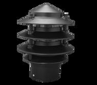 IP33, Three tier aluminium bollard head complete with PVC post.