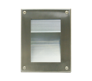 IP55 Plain face recessed wall light.