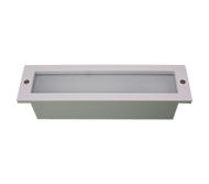 """ IP44 9W PL Low profile frame, frost glass diffuser. Flush Allen Key screw. Optional premount available - F71X/PREMOUNT"""
