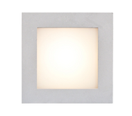 350mA 1 x 1W LED STD Plain square clip on Wall Light