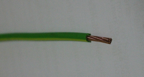 Core Earth cable, green/yellow