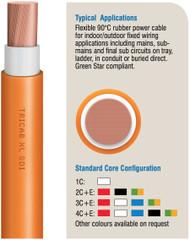 3 C+E Flexible Rubber X-90, orange circular cable