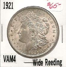 1921P Morgan Dollar VAM 4 Wide Reed