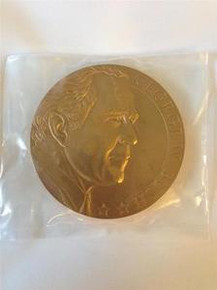 GEORGE W. BUSH 2005 UNITED STATES PRESIDENTIAL 3'' BRONZE MEDAL