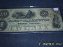 $20 Bank of Washington INDIAN North Carolina 1832 Maids