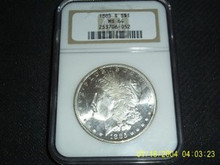1885-S Morgan Silver Dollar NGC MS 64 Rare S MINT