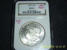 1878-S Morgan Silver Dollar NGC MS 65 TOP 30 VAM 31