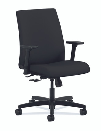 Ignition Upholstered Low Back Task Chair Quickship, Black