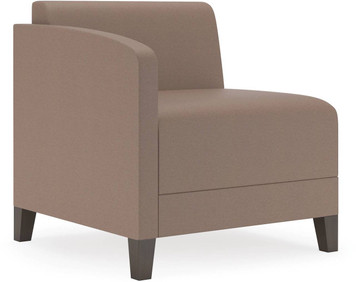 Lesro Fremont Soft Sit Right Handed Guest Arm Chair Side View