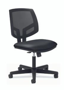 Hon Volt Mesh Back Synchro-Tilt Chair in black leather
