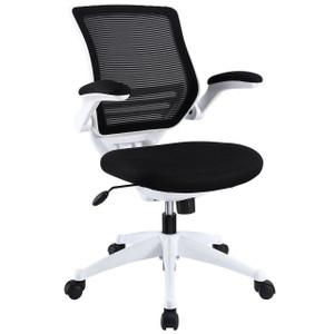 Hunter Blanco Mesh Back Flip Arm Task Chair Black
