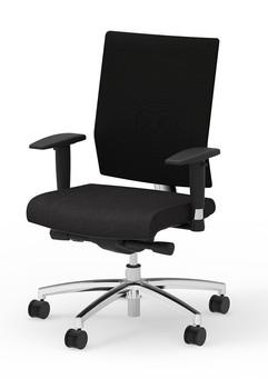 I-Desk Ambarella Synchro-Tilt Task Chair in Black