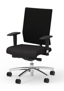 I-Desk Ambarella Synchro-Tilt Task Chair in Black