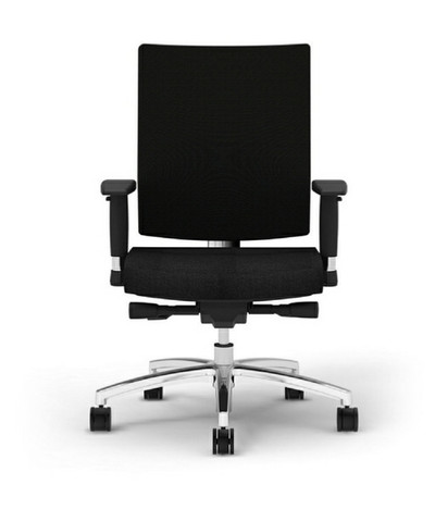 I-Desk Ambarella Synchro-Tilt Task Chair in Black front view