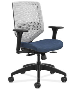 Solve ReActiv Back Chair in Midnight (COMP90) Seat Fabric and Platinum ReActiv Back