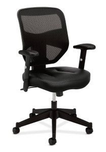 basyx by Hon Leather Seat Mesh High Back Chair (HVL531)