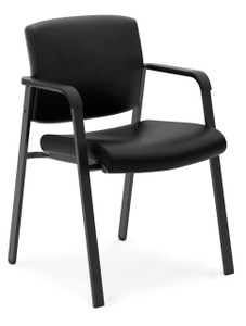 basyx by Hon Leather Stacking Guest Chair (HVL605)