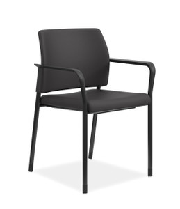 Hon Accommodate Stackable Guest Chair in Black Fabric