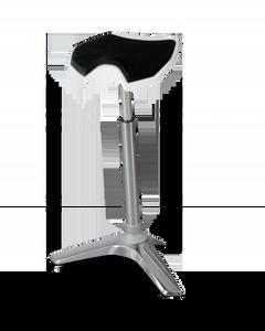 White Seat Black Cushion Silver Upright