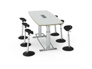 Focal Focal Confluence 6u0027 Conference Table W/ Optional Mobis Stools