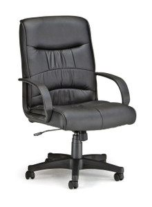 OFM Encore Leatherette Mid-Back Chair