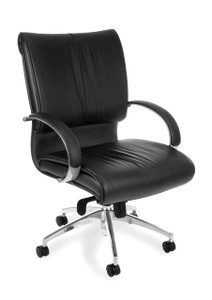 OFM Sharp Leather Executive Mid-Back