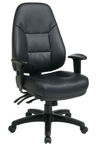 OSP EC4350 Ergonomic High Back Leather Chair