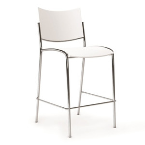 White Escalate Bistro Stool side view