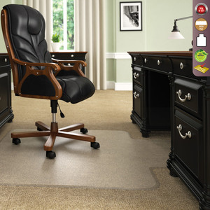 Deflecto ExecuMat™ High Pile Big U0026 Tall Chairmat